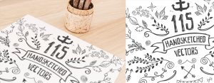 115 Handsketched Decorative Vectors Kit