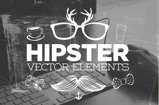 Hipster Vector Elements