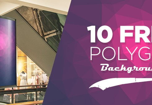 10 Free Polygon Backgrounds