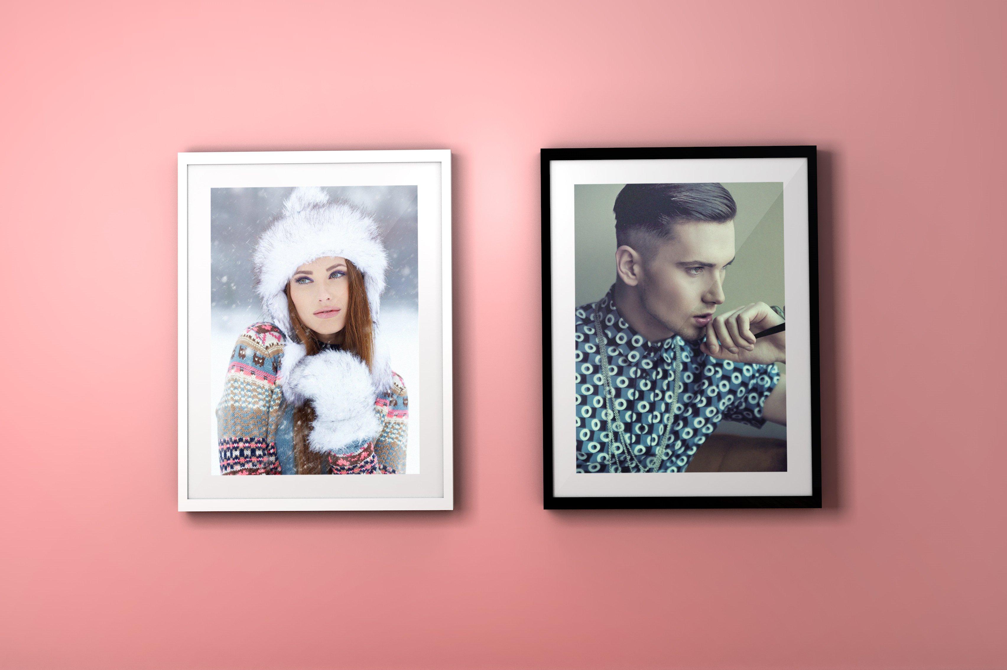 FREE Colourful Frame PSD Mockups - Layerform Design Co