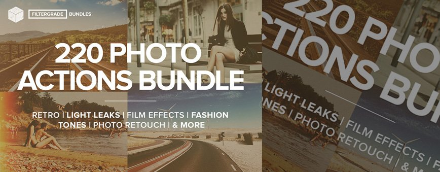 220 Photoshop Actions Bundle