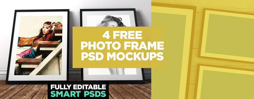 4 free photo frame mockups