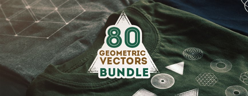 80 Geometric Shapes Vector Bundle