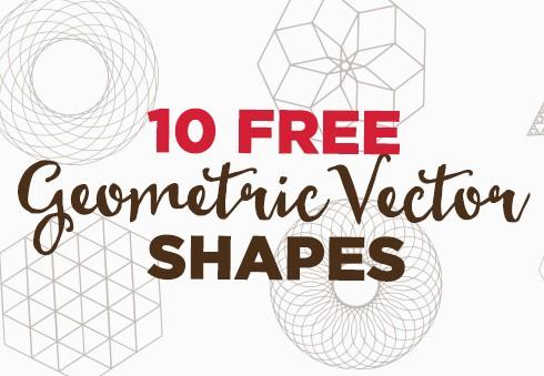 10 Free Geometric Vector Shapes