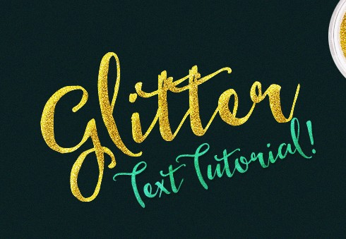 Glitter Text Tutorial