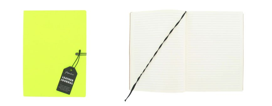 Neon Leather Journal