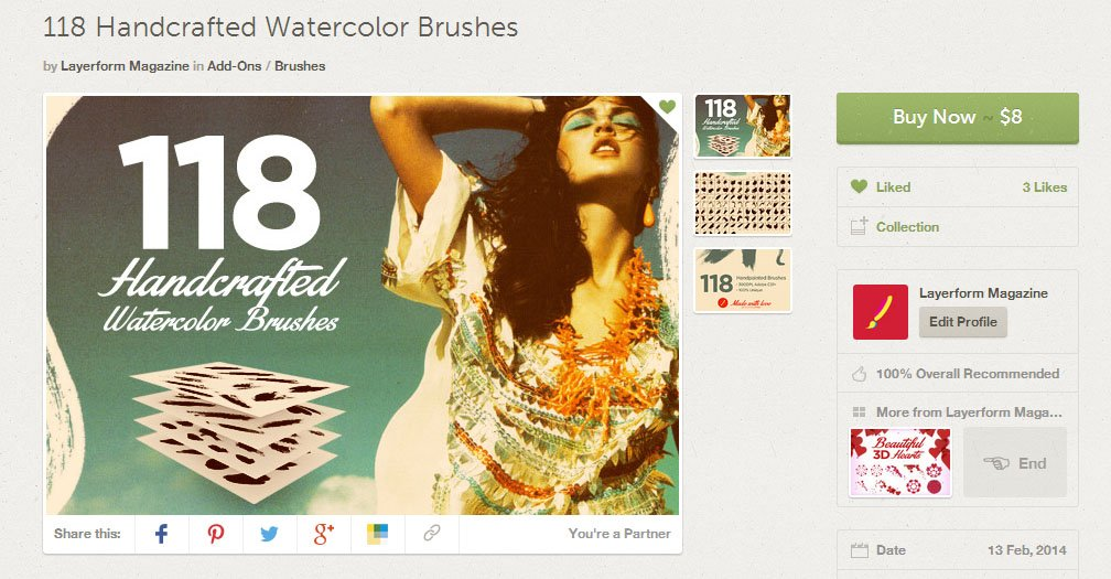 118 Watercolor Brushes