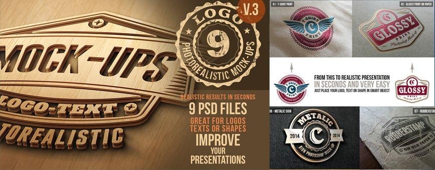 9 Photorealistic Logo Mockups