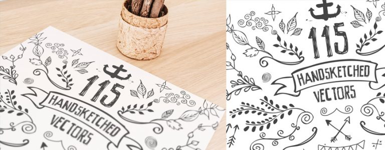 115 Handsketched Vector Elements