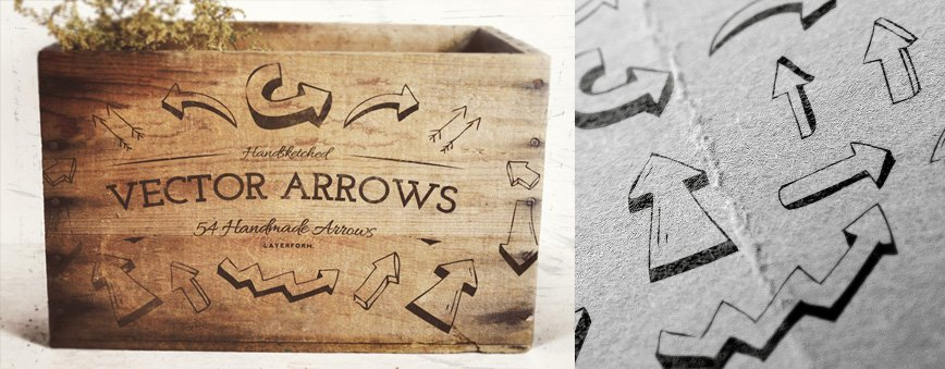 54 Handsketched Vector Arrows