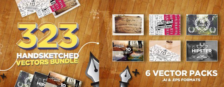 323 Handsketched Vector Elements Bundle