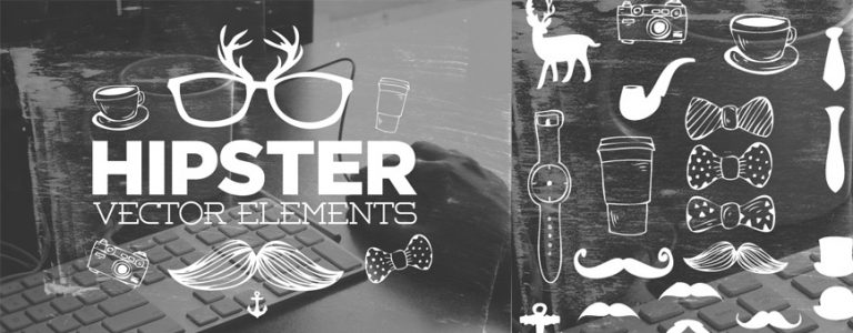 Handsketched Hipster Vector Elements