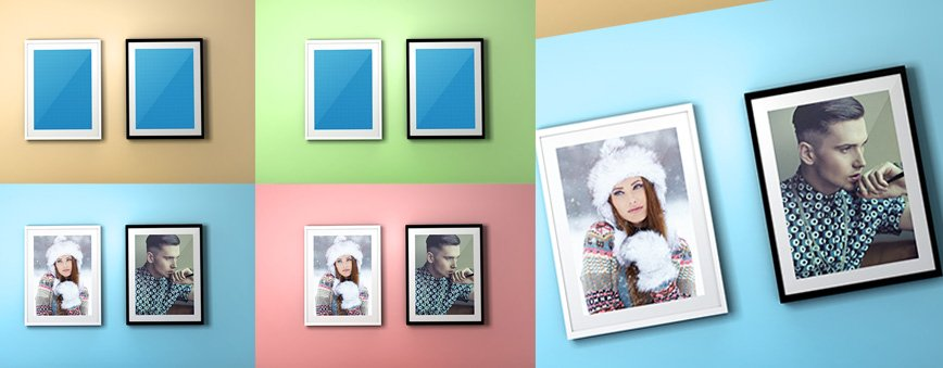 FREE PSD Photo Frame Mockup2