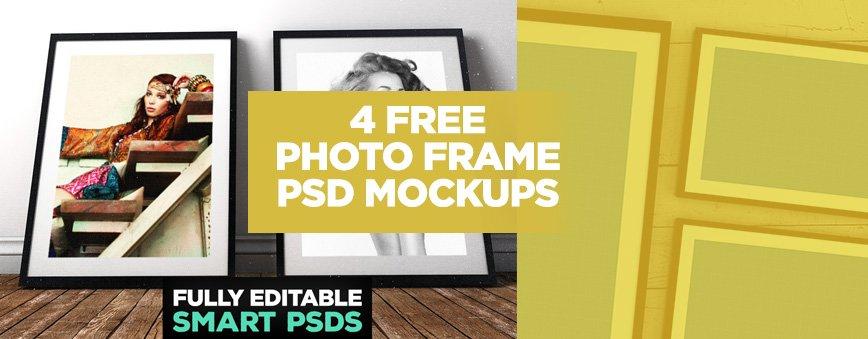 4 FREE Photo Frame PSD Mockups - Layerform Design Co