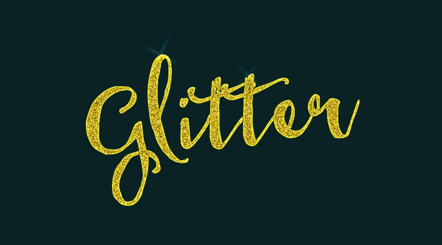 Glitter Text Effect Tutorial Photoshop