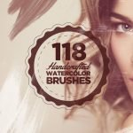118 Handcrafted Watercolour Photoshop Brushes - Watercolour Brushes
