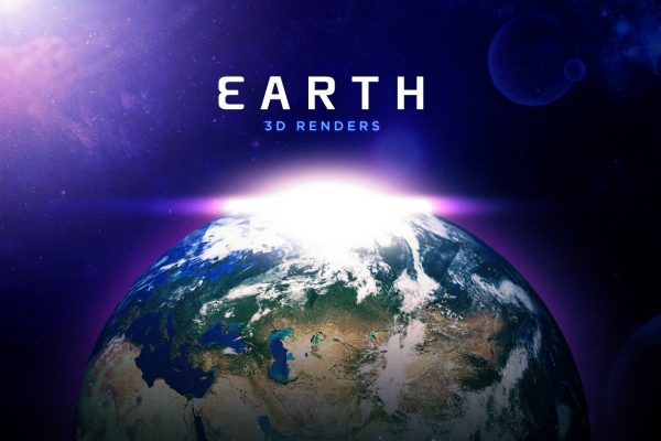 Earth 3D Render