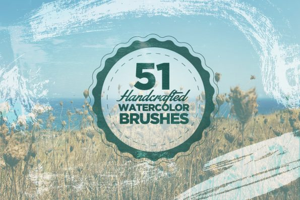 51 Handcrafted Watercolour Photoshop Brushes