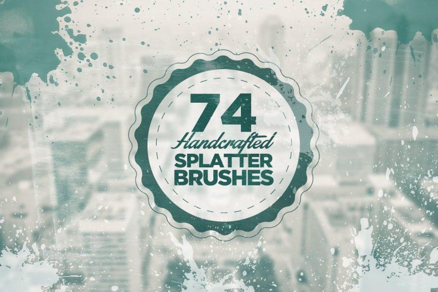 74 Handcrafted Splatter Photoshop Brushes