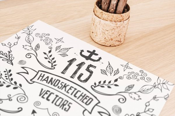 115 Handsketched Vector Elements Kit