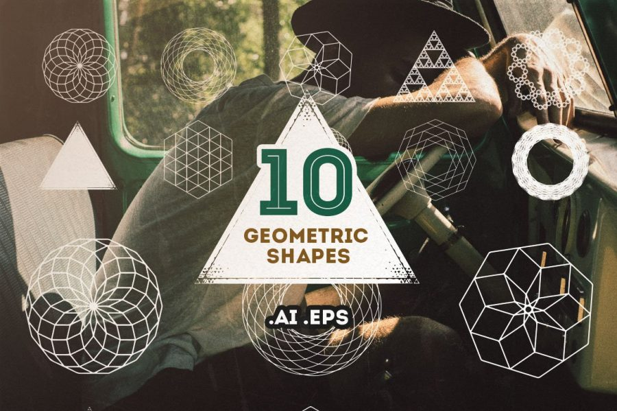 10 Geometric Vector Shapes by Layerform Design Co