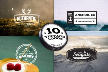 10 Vintage Logos - Volume 2 by Layerform Design Co