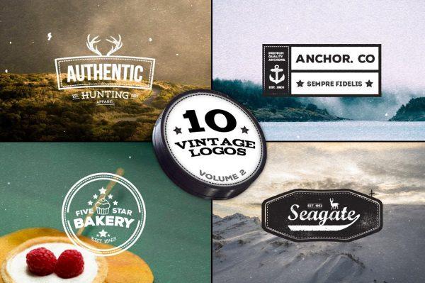 10 Vintage Logos - Volume 2 by Layerform Design Co