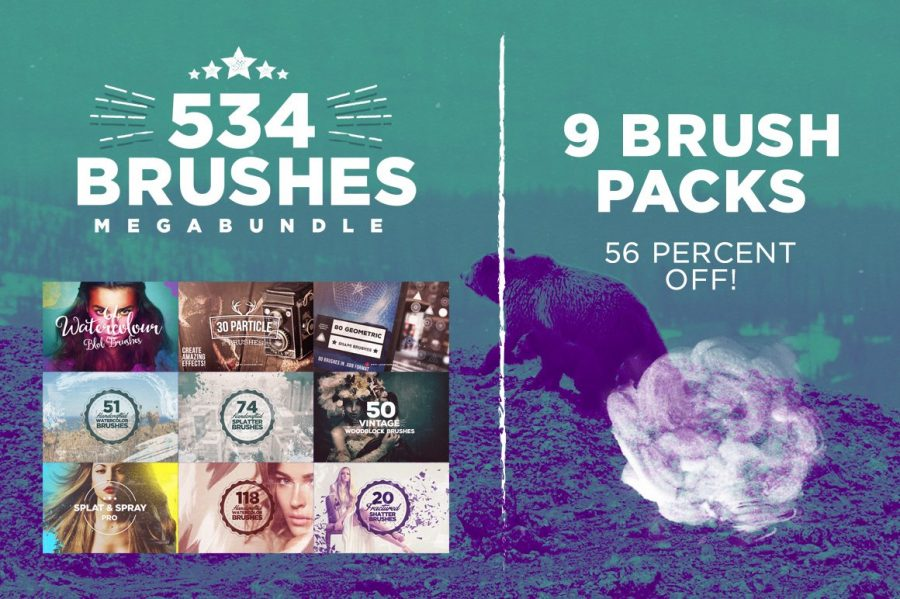 534 Photoshop Brushes Megabundle
