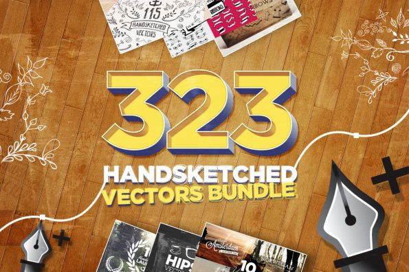 323 Handsketched Vectors Bundle by Layerform Design Co