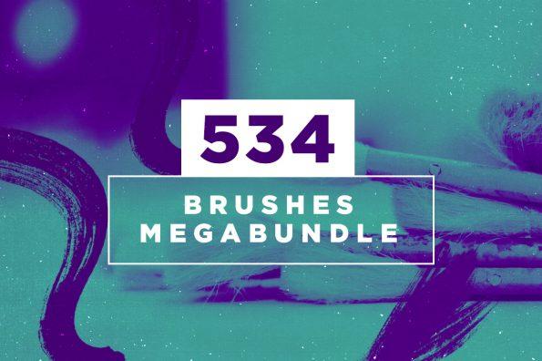 534 Photoshop Brushes Megabundle