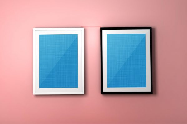 Colourful PSD Frame Mockup by Layerform Design Co