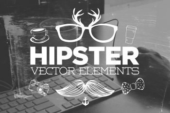 30 Handsketched Hipster Vectors by Layerform Design Co