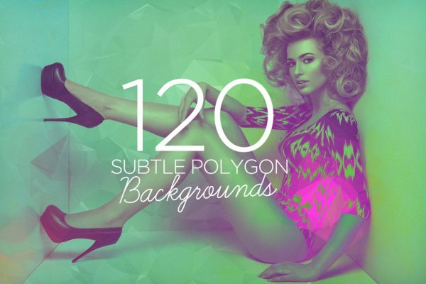 120 Subtle Polygon Backgrounds by Layerform Design Co