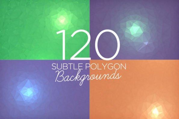 120 Subtle Polygon Backgrounds by Layerform Design Co