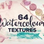 64 Watercolour Textures by Layerform Design Co