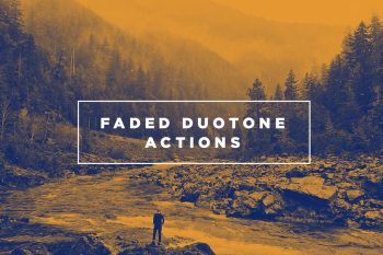 Faded Duotone Photoshop Actions by Layerform Design Co
