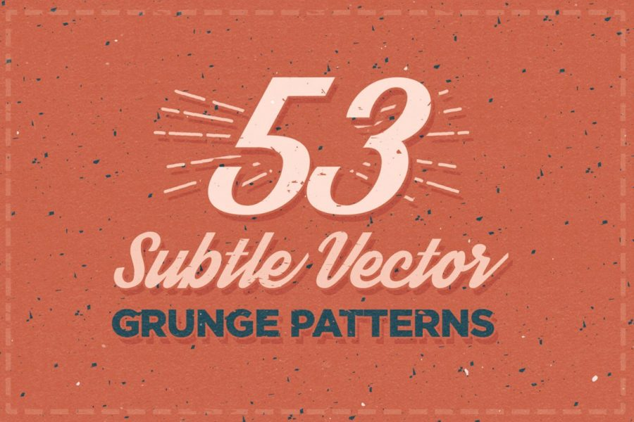 53 Subtle Vector Grunge Patterns by Layerform Design Co