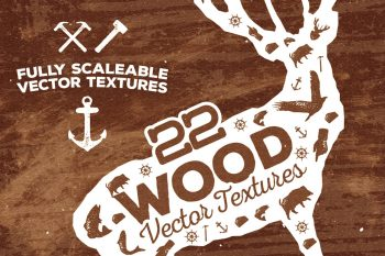 22 Wood Vector Textures by Layerform Design Co