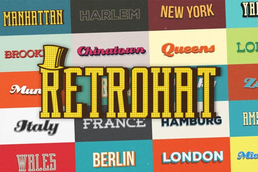Retrohat™ Vector Graphic Styles by Layerform Design Co