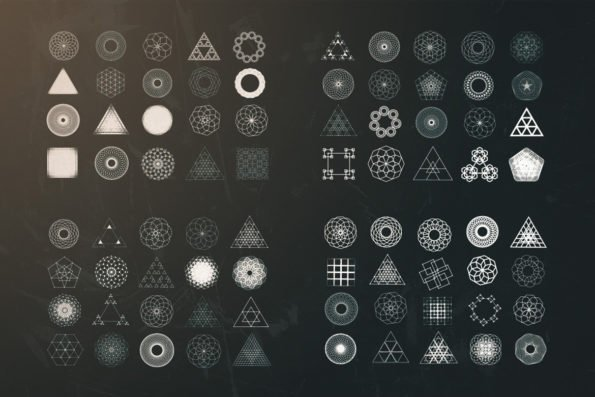 80 Geometric Vectors Bundle by Layerform Design Co