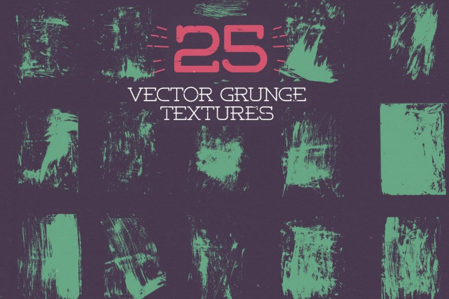 25 Vector Grunge Textures by Layerform Design Co