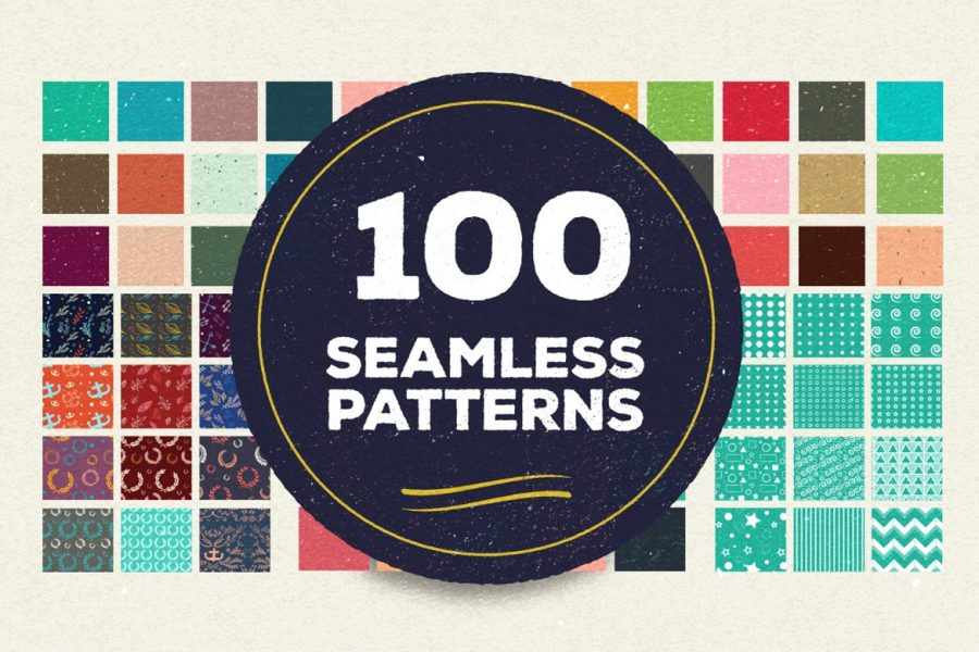 100 Vector Patterns Bundle by Layerform Design Co
