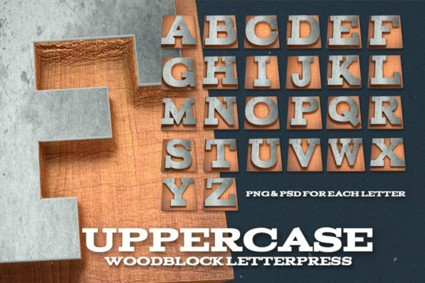 Wood Letterpress Design Kit by Layerform Design Co