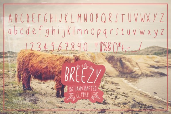 Breezy Handsketched Typeface by Layerform Design Co