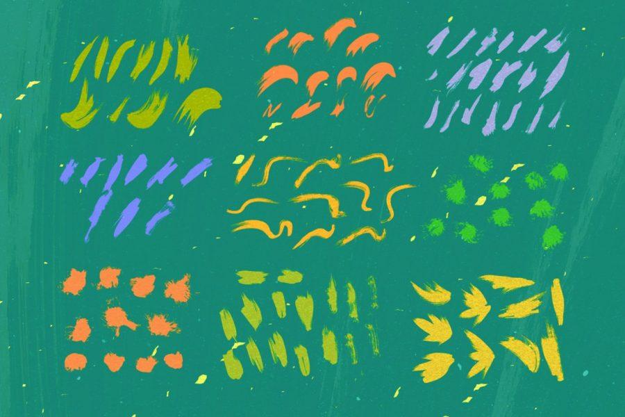 107 Fresh Watercolor Vectors by Layerform Design Co