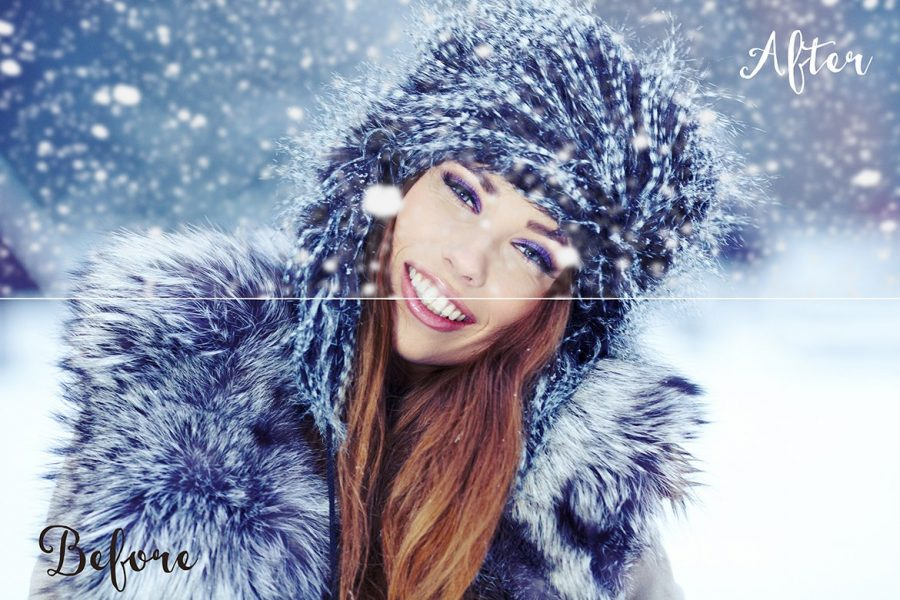 20 Snow Overlay Textures by Layerform Design Co