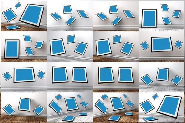 20 Gravity Photo Frame Mockups by Layerform Design Co