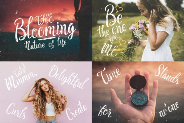 Peachy and Pure Script Typeface by Layerform Design Co