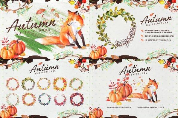 The Watercolour Illustration Bundle by Layerform Design Co