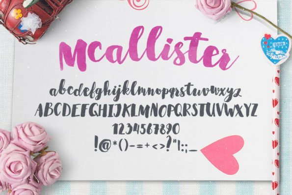 Mcallister Brush Script Typeface by Layerform Design Co